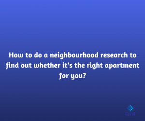 HOW TO DO A NEIGHBORHOOD RESEARCH
